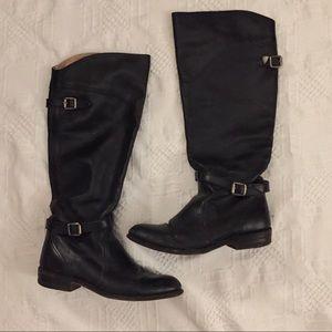 Frye Black leather boots size 7 Dorado Riding